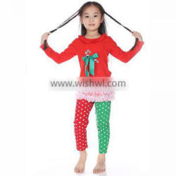 Girls wholesale children 's boutique funy christmas clothes