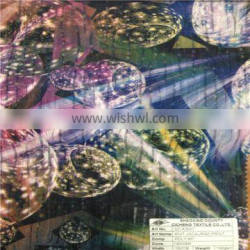 Shaoxing Onway high twist 96%polyester 4%spandex ITY printed knitting fabric