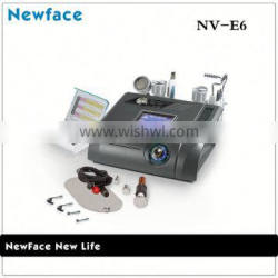 NV-E6 Portable 6 in 1 No-needle mesotherapy no-needle mesotherapy with microdermabrasion skin tightening equipment for salon