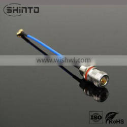 N straight JACK to MMCX right angle plug for .086 cable L=80mm