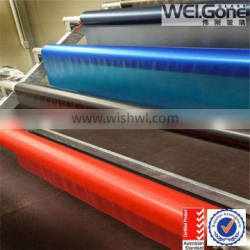 green yellow, blue,clear color flat laminated glass