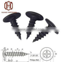 phosphated wafer head sharp point self tapping screw 8x1/2''