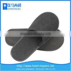 Black cheap hotel disposable indoor guest slippers