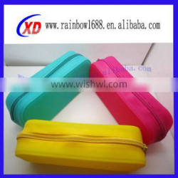 Silicone new stationery bag/silicone sundries bags/silicone stationery bags/silicone cosmetic bag