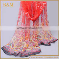 Main product attractive style silk tie and dye scarf with good offer