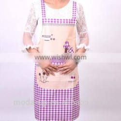 Printed apron with plaid for adult