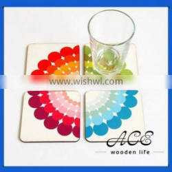 Personalized Solid Wooden Painting UV Digital Printing on Wood Placemat Water Proof MDF Coaster