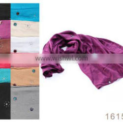 Many colors thin cotton infinity scarf 2015