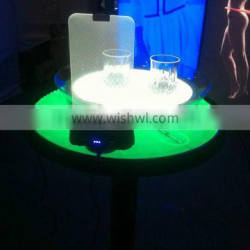 LED products used in bars as table and led winelist luminous cup with led teay