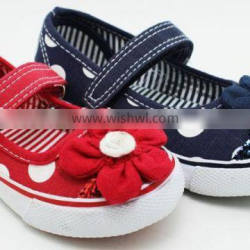 NEW CANVAS WHOLESALE FLOWER KIDS SHOES FOR GIRLS