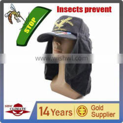Out door cap with uv cut and insecticide