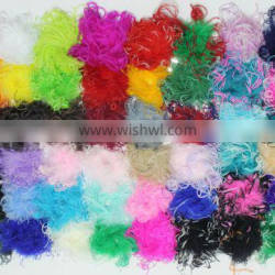 Wholesale top quality manufacturers multicolor decotation ostrich and turkey wool top