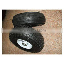 solid pneumatic tubeless rubber wheel for wheel barrow