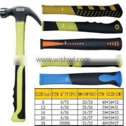 rubber handle claw hammer