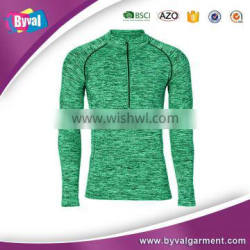 Men 100% Polyester Dry Fit Moisture Wicking 1/4 Performance Pullover Sports Shirts Wholesale