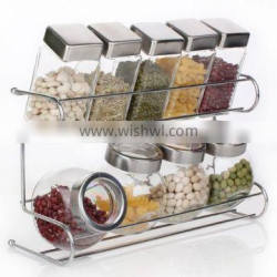 DecoBros 2 Tier Wall Mounted Spice Rack, Chrome New