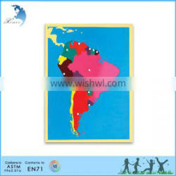 wholesale montessori wooden world map baby toys educational