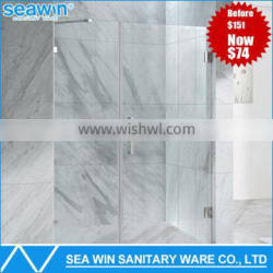 2016 Fashionable China Factory Sale Portable Hinge Shower Glass Door