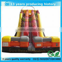 latest design inflatable double water slide