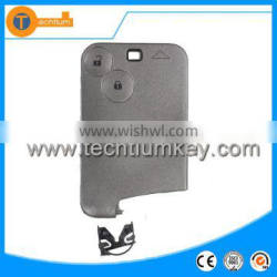 2 button remote key case shell blanks wholesale without blade and logo on the key cover card key for Renault Laguna 2