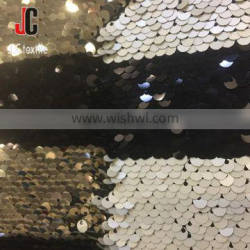 shaoxing textile embroidery fabric 100% polyester sequin dress fabric