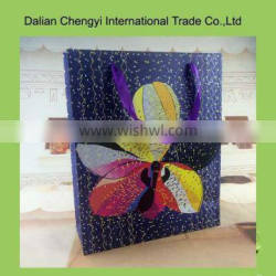 High quality colorful cute printing paper Christmas paper bag