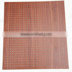 Perforated acoustic panel and fireproof fiber cement board