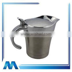 unique with lid stainless steel gravy boat w