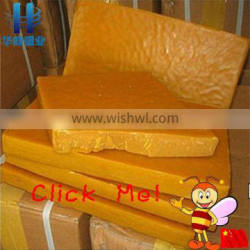 high quality pure natural yellow beeswax slab