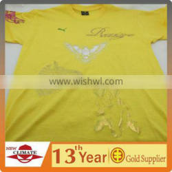 T-shirts with laser beam cutting