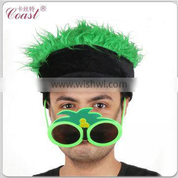 cheap adult funny party green hair wig hat