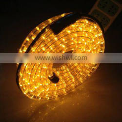 2016 Christmas decor 3-wires round copper led light swimming pool rope light