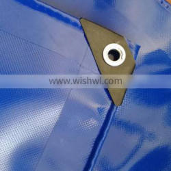 100% polyester material and flame retardant feature PVC tarpaulin