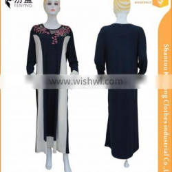 95%polyester 5%spendax milk silk casual muslim gown match color with embroidery