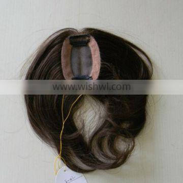 high quality 5a grade natural looking human hair piece with clips