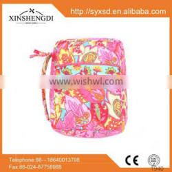 hot selling handle zipper bible covers,crops floral bible bags with exterior slip pocket