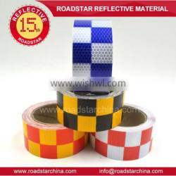 High visibility checkerboard printed reflective tape for vehicles