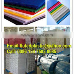 Corrugated plastic sheet/Corflute/Coroplast for wall covering/flooring protection