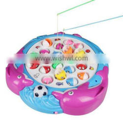 New Plastic Funny Magnetic Electric Toy Fishing Set For Kids