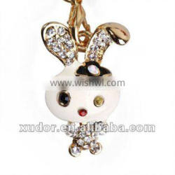 LITTLE BUNNY CRYSTAL MOBILEPHONE STRAP ACCESSORIES