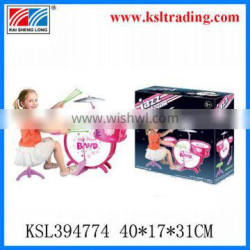 colorful toy jazz drum set for girls