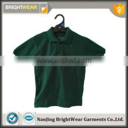 school uniform short sleeve polo shirt with pique fabric and printing