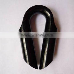 Galvanized or self color wire rope cusp tube thimble