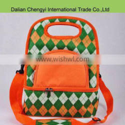 Wholesale tactical 600D oxford lunch bag with shoulder strap
