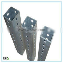 Galvanized Steel Sign Post with High Yield Strength
