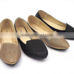 new design with diamond fashion dress flat shoes in stock