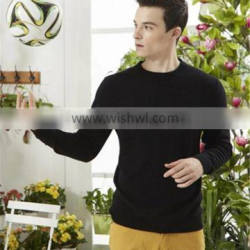 stylish crew neck cashmere wool sweater for man