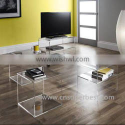 Factory production directly cheap acrylic family Tv Stand for sale