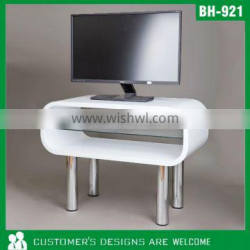 White TV Stand, Bentwood TV Stand, Solid Wood TV Stand