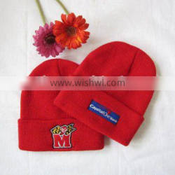 Ski cap with 3D embroidery Logo knitted hat winter hats caps
